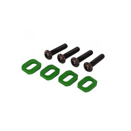 Brickor motorfäste Alu Grön med skruv (4)
