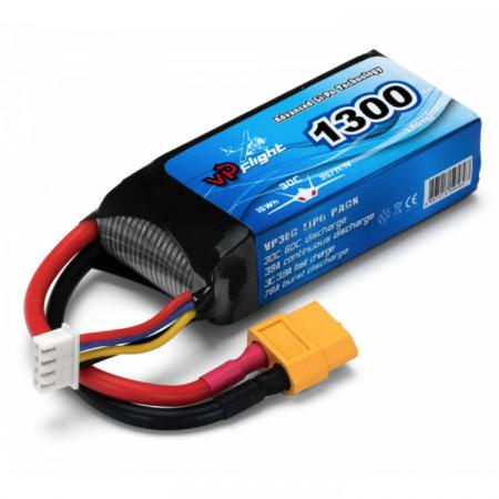 Vapex Li-Po Batteri 3S 11,1V 1300mAh 30C XT60-Kontakt