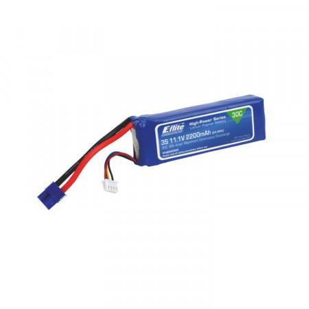 E-Flite Li-Po Batteri 3S 11,1V 2200mAh 30C EC3-Kontakt