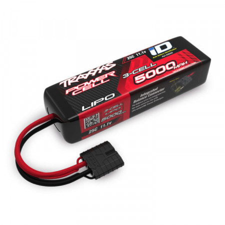 Traxxas Li-Po Batteri 3S 11,1V 5000mA 25C iD-Kontakt (Kort)