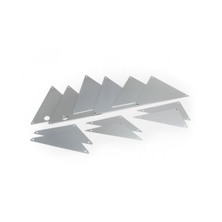 Chassipaneler Alu Silver Set