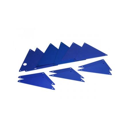 Chassipaneler Alu Blå Set