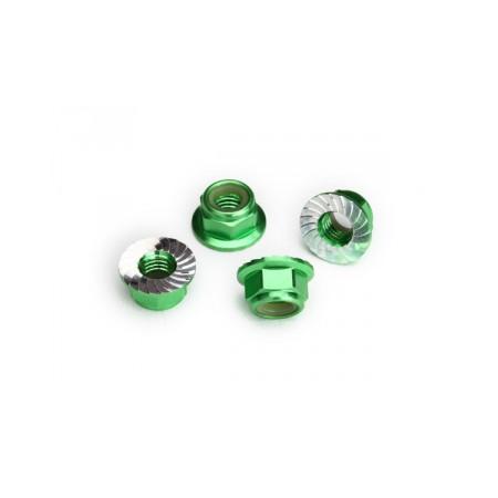 Hjulmutter 5mm Alu Grön (4)
