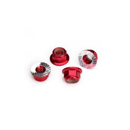 Hjulmutter 5mm Alu Röd (4)