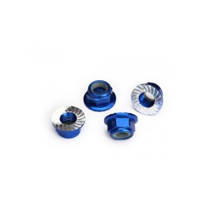 Hjulmutter 5mm Alu Blå (4)