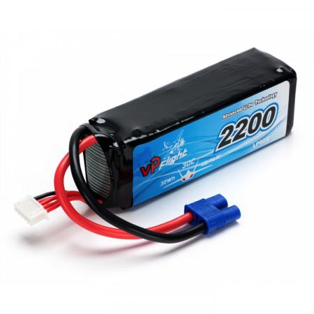 Vapex Li-Po Batteri 4S 14,8V 2200mAh 30C EC3-Kontakt