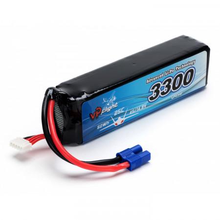Vapex Li-Po Batteri 4S 14,8V 3300mAh 25C EC3-Kontakt