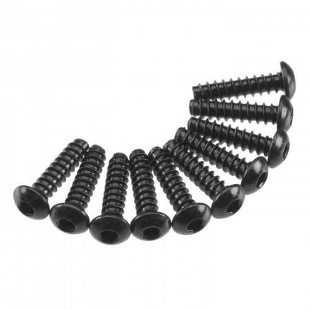 AXA436 Hex Tap Button Head M3x12mm Black (10)