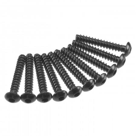 AXA438 Hex Tap Button Head M3x18mm Black (10)