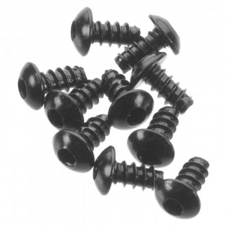 AXA433 Hex Socket Button Head M3x6mm Black (10)