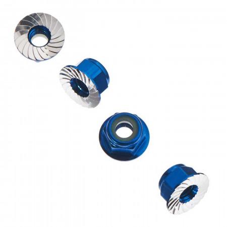 AXA1046 Wheel Nut M4 Serrated Blue (4)