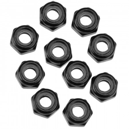 AXA1053 Nylon Locking Hex Nut M3 Black (10)