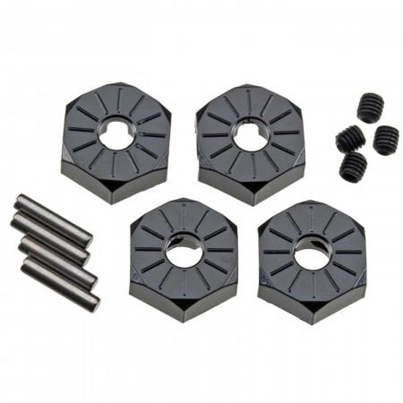 AX30427 Aluminum Hub Narrow 12mm Black (4)