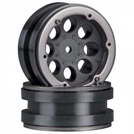 AX8087 8-Hole 1.9 Beadlock Wheel Black (2)