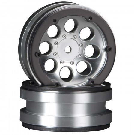 AX8088 8-Hole 1.9 Beadlock Wheel Satin Chrome (2)