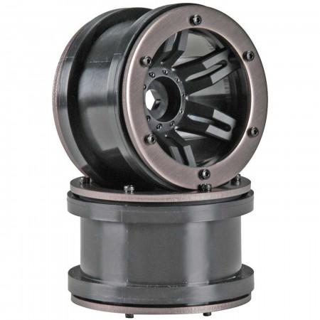 AX8091 Rocksters 2.2 Beadlock Wheel Black (2)