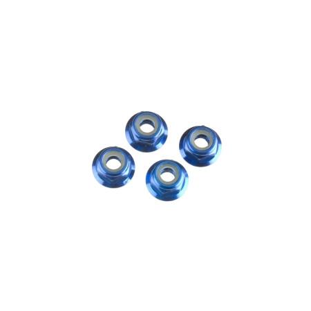 Låsmutter M4 Blå Aluminium (4)