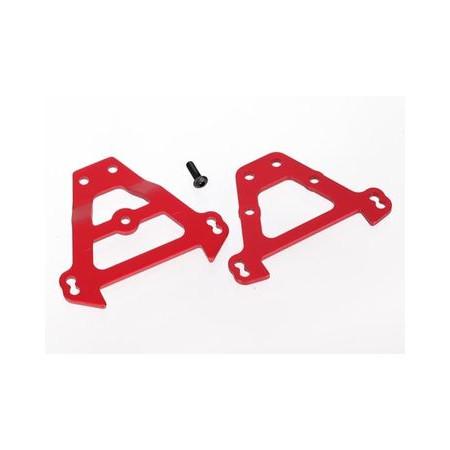 Tvärplåt Fram & Bak Aluminium Röd