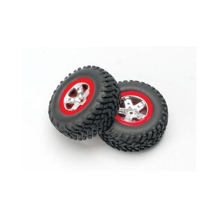 Däck & Fälg, SCT/SCT Röd 4WD/2WD Bak (2)