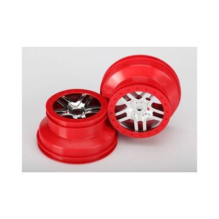 Fälg Split-Spokekrom röd beadlock
