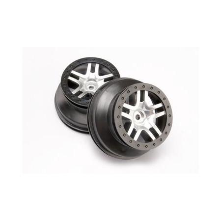 """Fälg SCT Split-Spoke Svart 2,2/3,0"""" 4WD/2WD Bak (2)"""