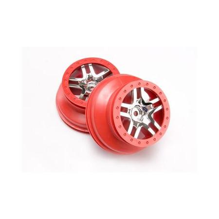 "Fälg SCT Split-Spoke Röd 2,2/3,0"" 4WD/2WD Bak (2)"