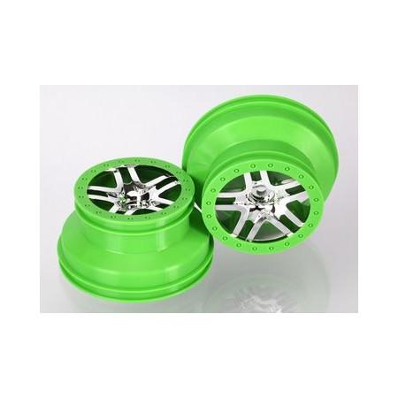 """Fälg SCT Split-Spoke Grön 2,2/3,0"""" 4WD/2WD Bak (2)"""