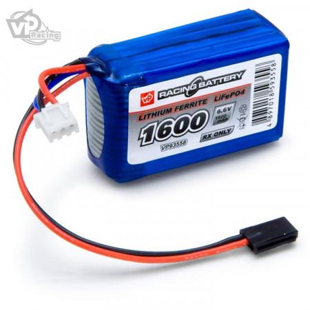 Vapex Mottagarbatteri Li-Fe 6,6V 1600mAh Kub