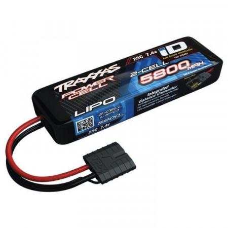 Traxxas Li-Po Batteri 2S 7,4V 5800mAh 25C iD-kontakt