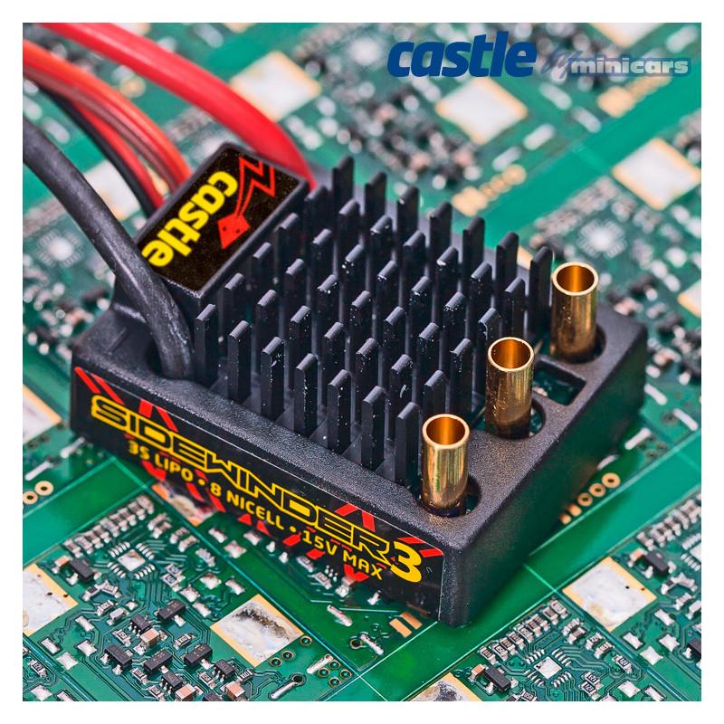 Castle Creations SIDEWINDER 3 ESC 12V 1/10 med 1406-6900KV Sensormotor