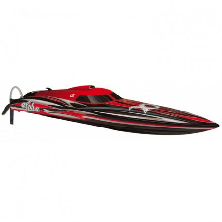 Joysway Alpha 1000mm Borstlös V-båt ARTR Röd