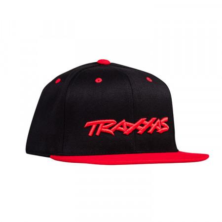 Keps Rak skärm Svart/Röd Traxxas Logo Flexfit